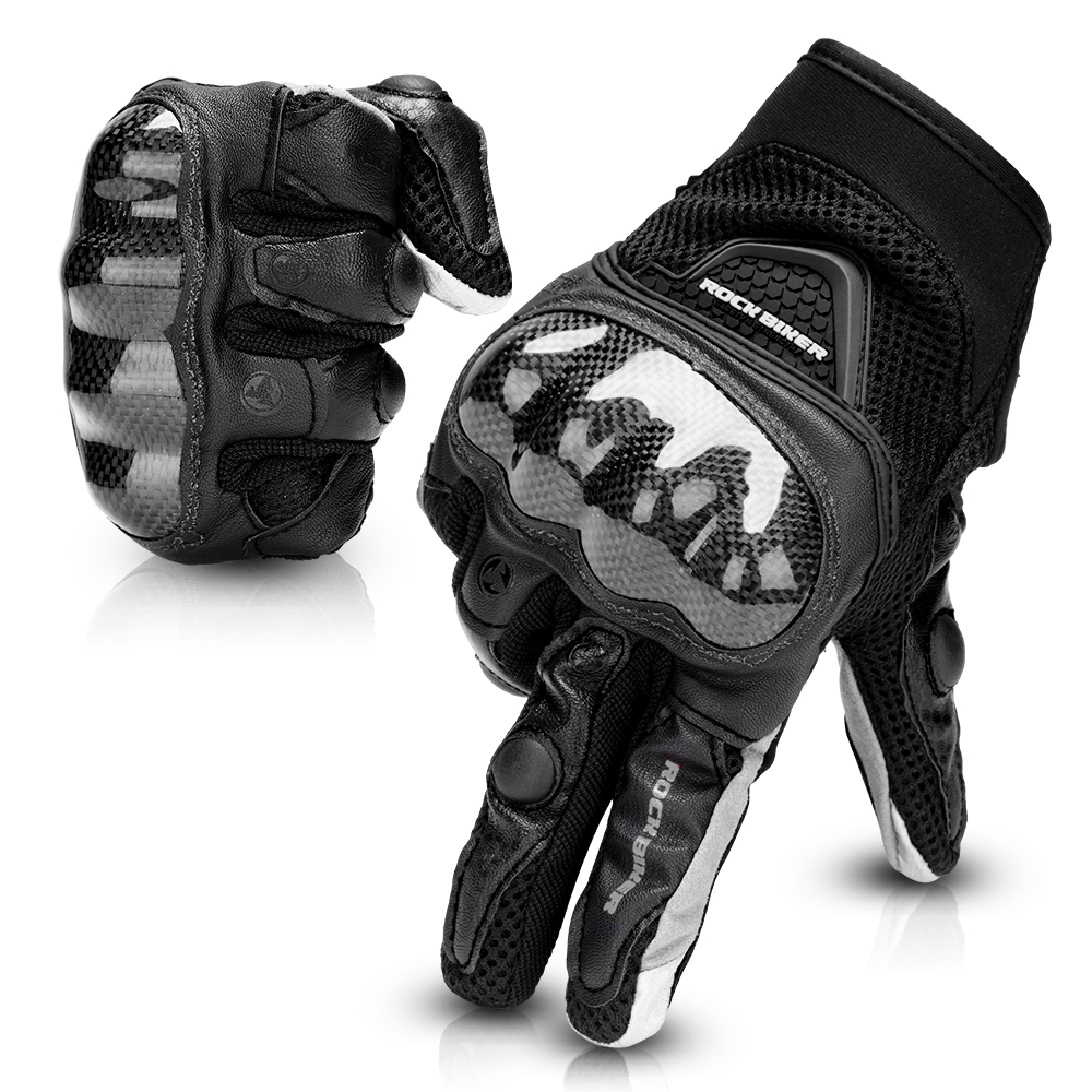 Motorcycle-Gloves Touch-Screen Cycling-Protective Carbon-Fiber WOMEN Breathable Short-Type