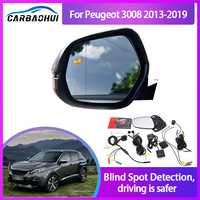 Sistema de Monitoreo de punto ciego para coche, Sensor de Radar de ondas de 24GHZ, con luz LED de espejo de advertencia, para Peugeot 3008 2013-2019 BSA BSM BSD
