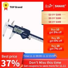 SHAHE calibrador Digital de acero inoxidable endurecido, calibre electrónico Vernier, micrómetro, 0 150mm