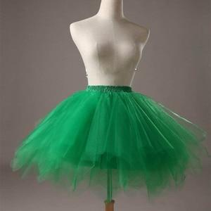 Image 5 - Short Girl Layered Tulle Ballet Dance Elastic Mini Tutu petticoat Ruffled Trim Fluffy Sweet Color Party  Princess Pettiskirt