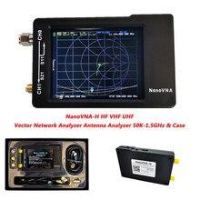 2,8 дюймов ЖК-дисплей Дисплей NanoVNA-H HF VHF UHF Nano VNA вектор сетевой анализатор антенны с Батарея чехол