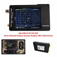 New 2.8 inch LCD Display NanoVNA-H HF VHF UHF Nano VNA Vector Network Analyzer Antenna Analyzer with Battery Case