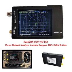 Nueva pantalla LCD de 2,8 pulgadas nanovna-h HF VHF UHF Nano VNA Analizador de antena del analizador de red de Vector con caja de batería