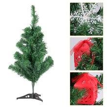 Искусственная декоративная Рождественская Елка зеленая Рождественская пластиковая елка 60 см Новогодние украшения для дома настольные украшения Рождественская елка