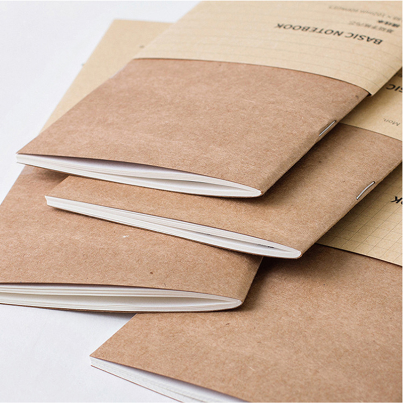 2PCS Refillable Paper Traveler's Notebook Filler Papers Journal Dairy Inserts Refill Midori Leather Notebook Blank Line Kraft