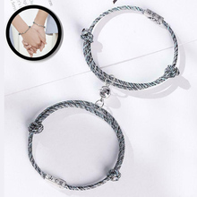 Rope Bracelets Jewelry Wrist-Chain Magnetic Couple Lover Attract 2pcs Distance