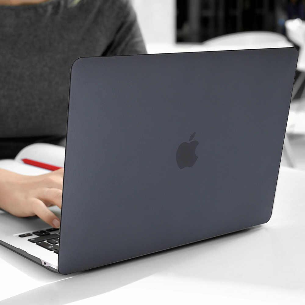 Mat/cristal clair coquille dure étui pour macbook Pro 13 16 pouces 2019 A2159 A2141 barre tactile A1706 Air 13 A1932 Retina 15 A1707
