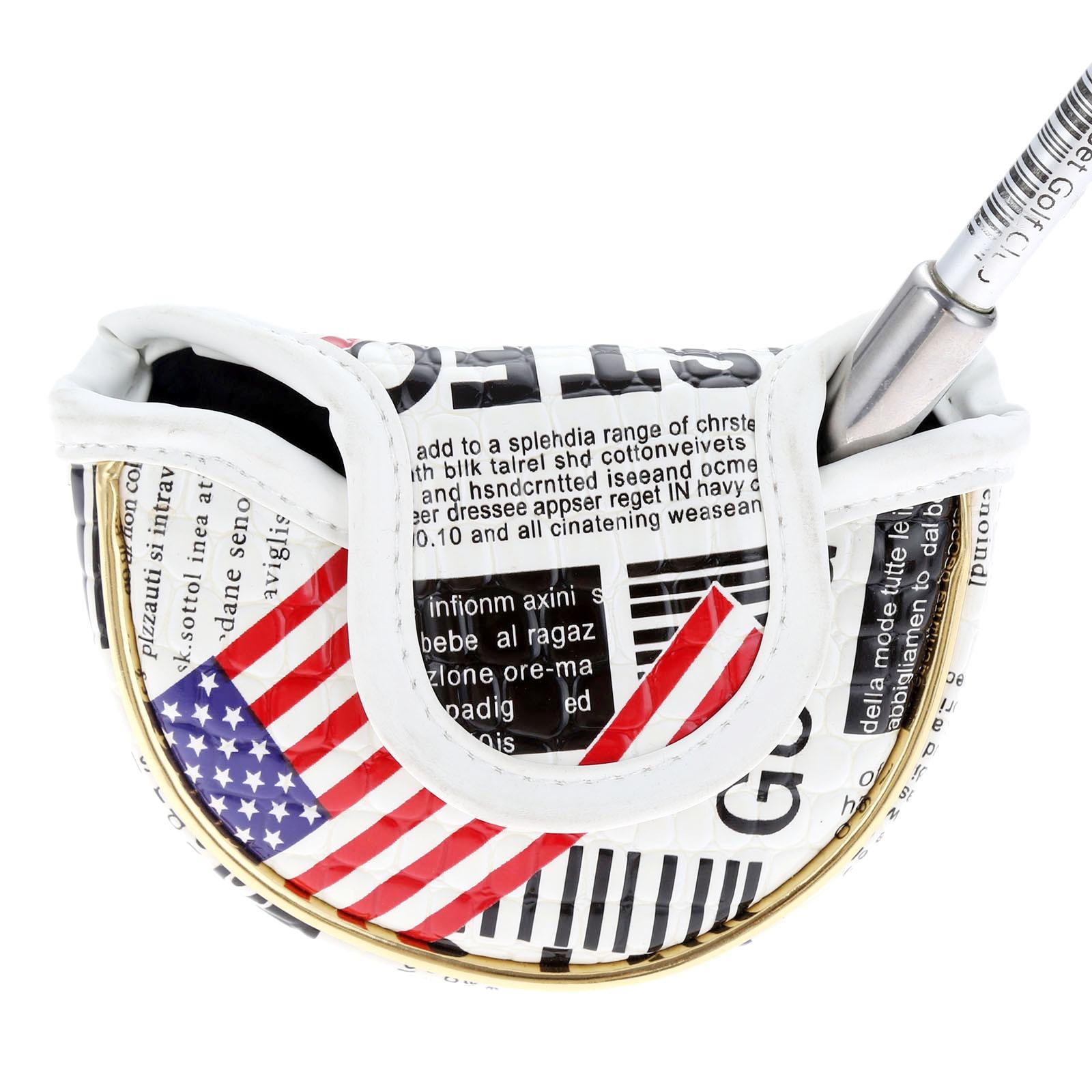 1Pc USA Flag Golf Blade Putter Head Cover PU Waterproof Golf Headcovers For Men Women Golfer Gift Golf Club Heads Accessories
