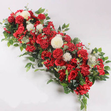 Rose Green Plant Artificial Flower Decor Simulation Wall Fake Home Party Supplies