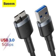 Baseus USB 3.0 do Micro B kabel 5GB szybki rodzaj USB kabel danych micro-b do Samsung S5 Note 3 HDD zewnętrzny dysk twardy przewód