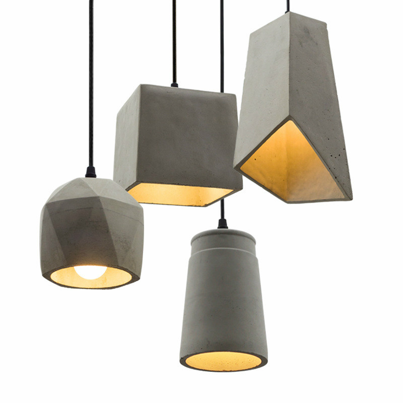 Nordic Vintage Loft Pendant Lamp Led Cement Industrial Hanging Lamp Dining Room Restaurant Living Room Home Decor Light Fixtures