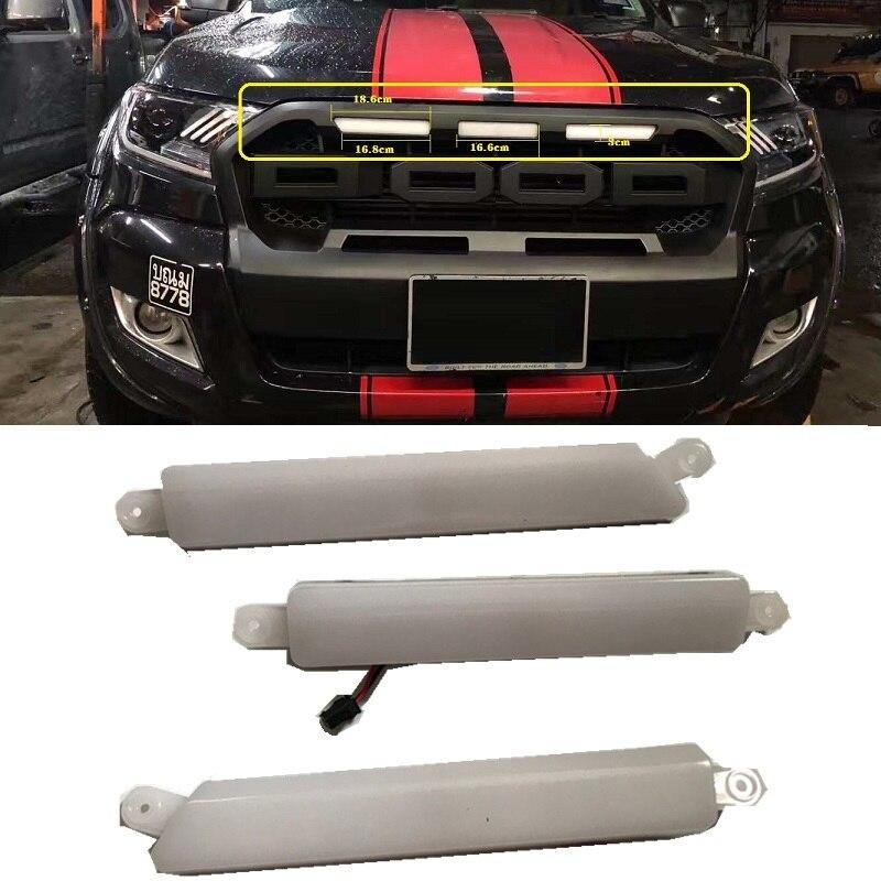 Strong Amber LED Front Grill Matte Black Fit Ranger T6 2012-2014 ...