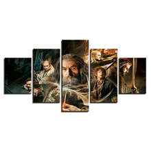 Modern Cuadros Decor Living Room Canvas Pictures 5 Panel Hobbit Modular Movie Painting Posters For HD Prints Frames