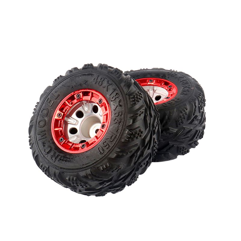 2 Pcs 100mm Speed Car Tire Wheel Wheels Auto Upgrade Parts For 1/12 RC Car Wltoys 12428 FY-03 R7RB