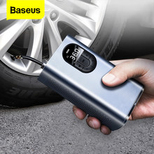 Baseus Auto Luchtcompressor 12V Draagbare Elektrische Band Tire Inflator Mini Digitale Auto Air Opblaasbare Pomp Voor Auto Fiets boot
