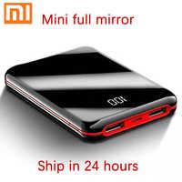 Xiaomi Pantalla Completa Mini Power Bank 30000mah batería externa USB cargador de batería de teléfono portátil para IPhone Poverbank