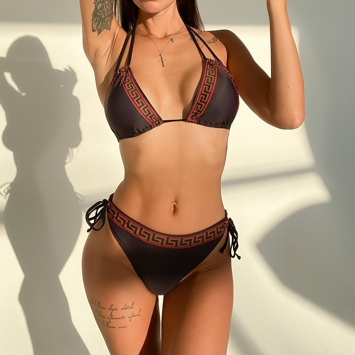 DJC312701-Women Sexy Bikini High Waist Swimsuit