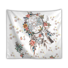 Dreamcatcher Series Wall Hanging Tapestry Flower Feather Colorful Printed Tapestry Bohemia Background Home Decor Shawl Blanket цены