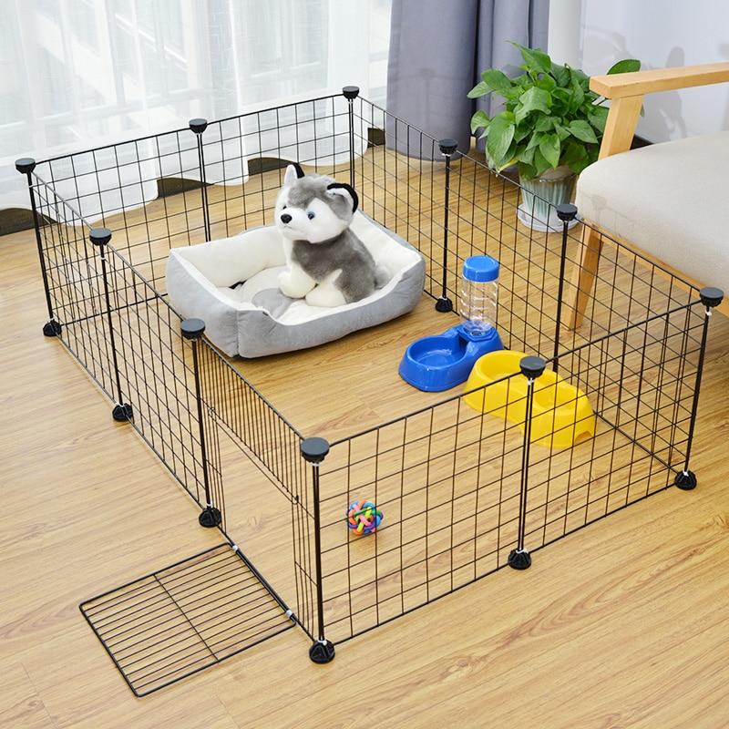 Клетка-ворота для домашних питомцев, для собак и кошек, ворота, принадлежности для домашней безопасности, магнитные заборы для собак, домашн...