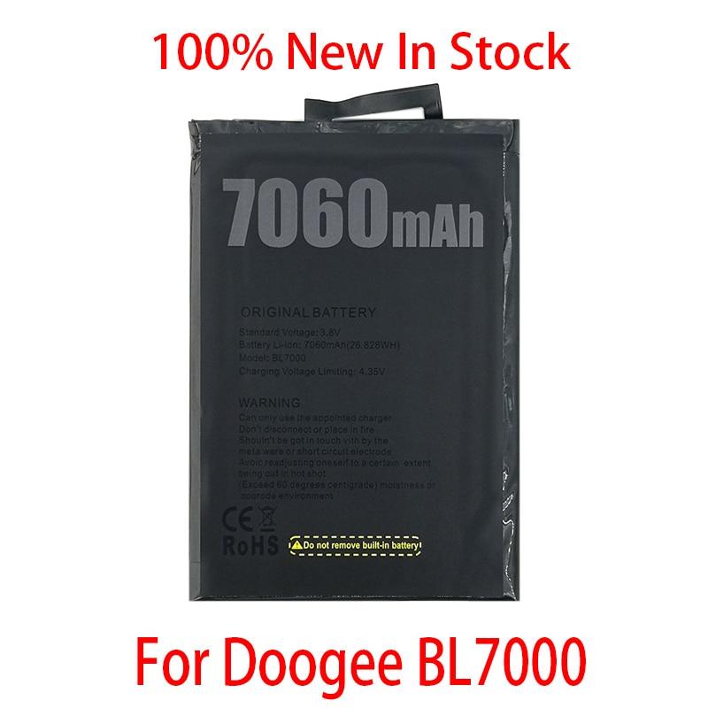 100% Оригинальный аккумулятор 7060 мАч BL 7000 для смартфона Doogee BL7000 в наличии высокое качество + номер отслеживания
