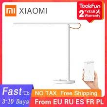 Xiaomi lâmpada de mesa 1s smart floor desk office aprendizagem portátil led luz leitura dobrável 4 modos proteção para os olhos luz mihome