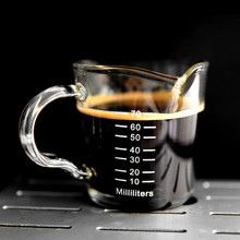 Cup Glass Milk-Cup Coffee High-Temperature Double-Mouth with Scale Ounce Japanese-Style
