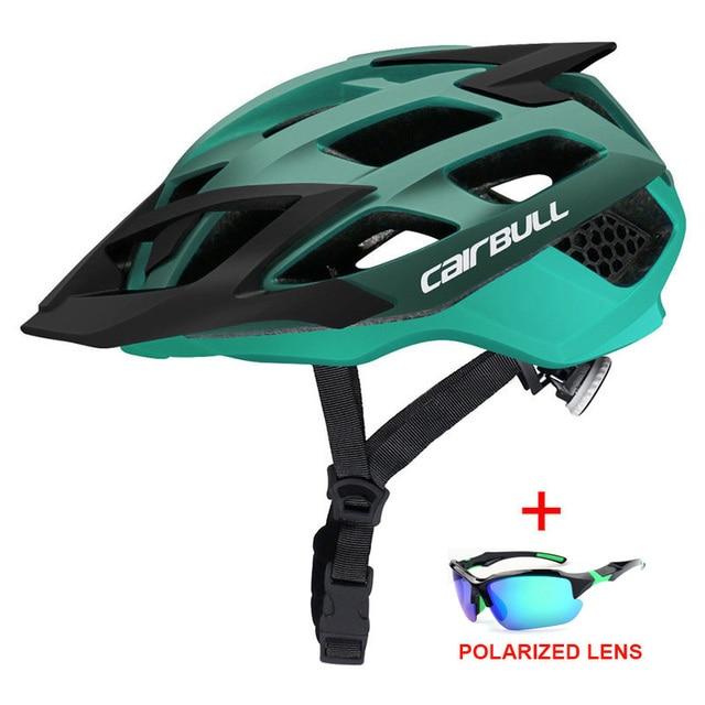Mais novo trilha xc mtb capacete de bicicleta com óculos de sol ultraleve estrada da bicicleta de montanha capacete in-mold corrida ciclismo capacetes 2