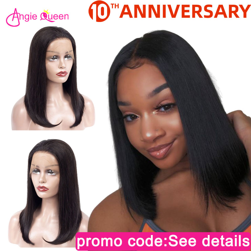 Straight Lace Front Human Hair Wig Peruvian Hair Human Hair Lace Wigs 13*4 Lace Front Wig Remy Hair Bob Wigs 8 10 12 14 16 18 20
