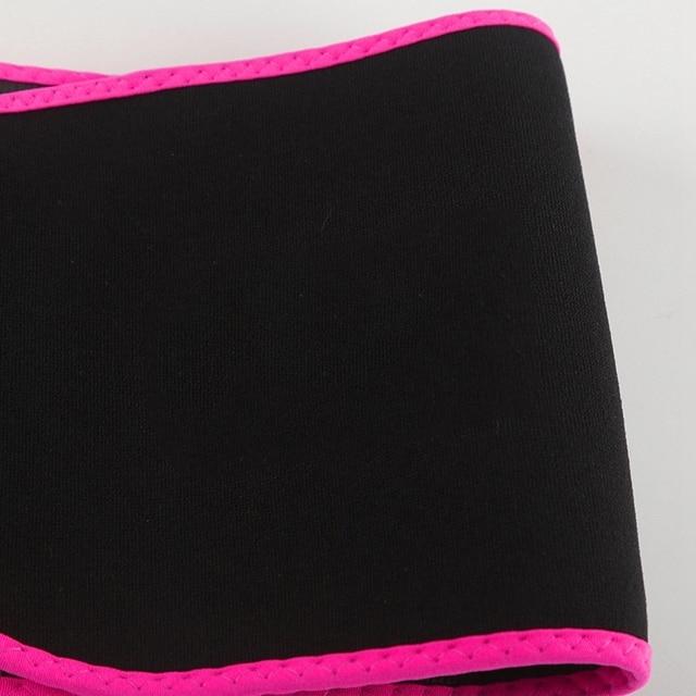 Adjustable Waist Support Waist Trimmer Belt Weight Loss Sweat Band Wrap Fats Tummy Stomach Sauna Sweat Belt For Walking Jogging- 5