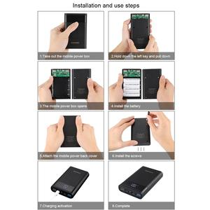Image 5 - HAWEEL DIY סוללה מטען כוח בנק מעטפת תיבת (לא כלול) עם 2x USB פלט & תצוגה, תמיכה QC 2.0 12000mA 4x18650
