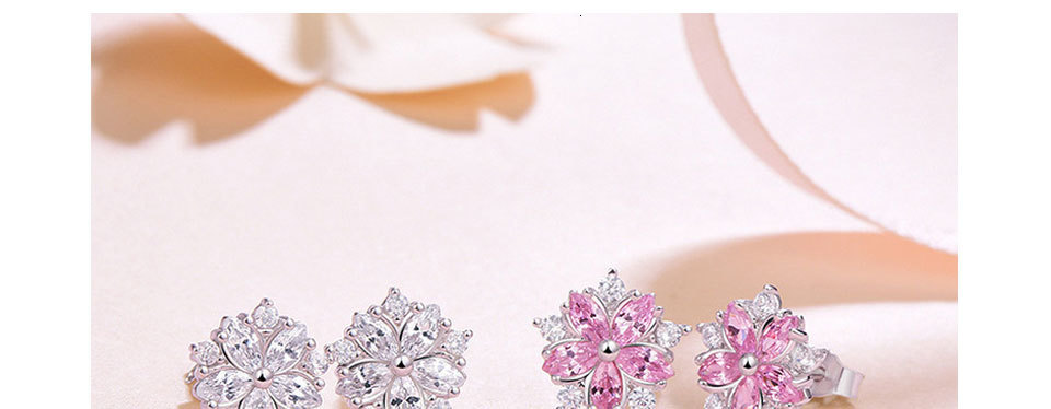 Ha9e187e563fd4c49a9f447da50039cd6w - WEGARASTI Silver 925 Jewelry Earrings Woman Pink Cherry Earring 925 Sterling Silver Earrings Wedding Earring