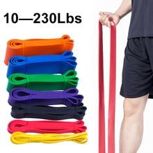 Unissex aptidão 208cm bandas de resistência de borracha yoga banda pilates elástico loop crossfit expansor força ginásio exercício equipamentos