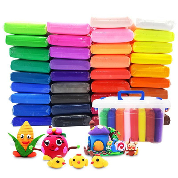 Light Clay Air Dry Polymer Plasticine Modelling Clay Super Light DIY Soft Creative Manual Educational Clay Toys 36 Color/set new 24colors super light clay air drying soft polymer modelling clay with tool educational toy special diy plasticine slime toys