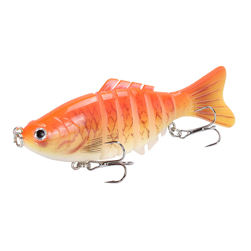 1pcs /outdoorWinter Fishing Bionic Multi-section Fish 15.6g/10cm  Artificial Japanese Fishing Tackle Lifelike7Festival Fish Lure