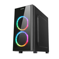 Sama Bud Desktop Computer Chassis Side through RGB Liquid cooled Game Support M ATX Mini Small Chassis
