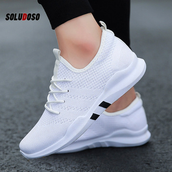 Spring & Summer Fashion Mens Casual Shoes White Lace-Up Breathable Shoes Sneakers basket tennis Mens Trainers Zapatillas Hombre 2017 men casual shoes spring autumn mens shoes breathable flats lace up shoes zapatillas hombre fashion shoes loafers male black
