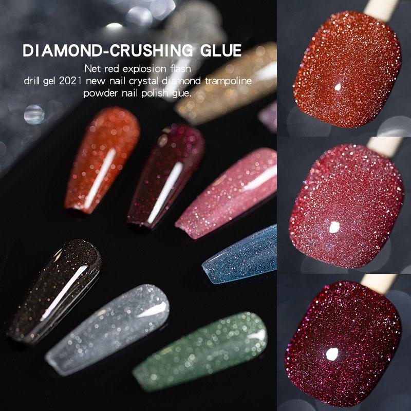 Gel Nail Polish Nails Art Manicure Varnishes Glitter Sequins Soak Off Semi Permanant UV LED Nail Art Hybrid Lacquers