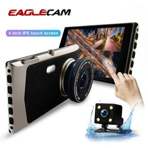 "Image 1 - 4.0"" Car Dash Cam Full HD 1080P 170 Degree Video Recorder Dual Lens Vehicle Camera Car DVR with Rear View G sensor Night Vision"