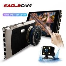 """4.0 """"araba Dash kamera Full HD 1080P 170 derece Video kaydedici çift Lens araç kamerası araba dvrı dikiz g sensor gece görüş"""