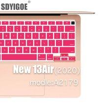 Capa de silicone para teclado air13 a2179, tampa protetora para teclado de apple laptop 2020 acessórios para mac