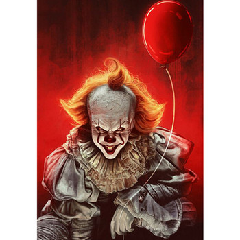 Painting By Numbers Scary Clown Joker Gothic Fantasy Horror