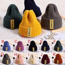 Детские шапки для маленьких мальчиков и девочек, однотонные вязаные крючком бини зимняя теплая шапка, детские шапки, реквизит для фотосессии новорожденных