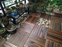11PCS/SET NEW Solid Wood Floor Balcony Garden Outdoor Courtyard Terrace Mosaic Carbonized Anti-Corrosion Floor