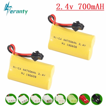 Upgrade 2.4v 700mah NiCD Battery For Rc Toys Cars Tanks Trucks Robots Guns Boats AA Ni-CD 2.4v Rechargeable Battery Pack image