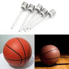 10 шт. Надувание булавки стандартный портативный металл мяч воздух насос иглы для футбола баскетбола футбола надувной воздух клапан адаптер