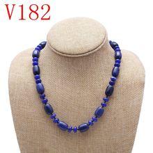 Ожерелье из натурального голубого халцедона модное ожерелье