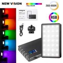 VILTROX Weeylife RB08P RGB 2500K 8500K فيديو صغير كشاف ليد محمول ملء ضوء المدمج في بطارية للهاتف كاميرا اطلاق النار