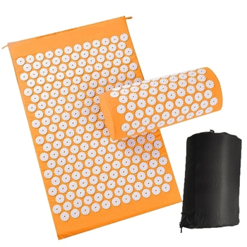 Stress Releasing Acupressure Massage Mat with Pillow set to release Pain and Tension for Yoga and Exercise