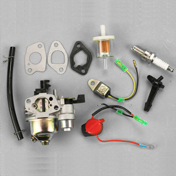 Carburetor Carb Kit For HONDA GX110 GX120 GX140 GX160 GX200 Spark Plug &Gasket engine power stop on off kill switch control for honda gx110 gx120 gx160 gx200 gx240 y51b