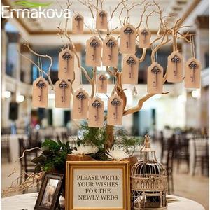 Image 4 - ERMAKOVA 50ชิ้น/ล็อตที่เปิดขวดโครงกระดูกไวน์Blank Cardสำหรับผู้เข้าพักRustic Wedding Party Favorsของขวัญของที่ระลึก